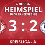 2. HERREN – Kreisliga A – Ergebnis 18.08.19